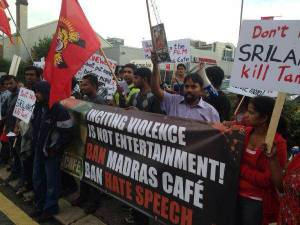 While the film does depict the LTTE groups in a violent light, it does not take a pro or anti stance. Protesters feel otherwise.